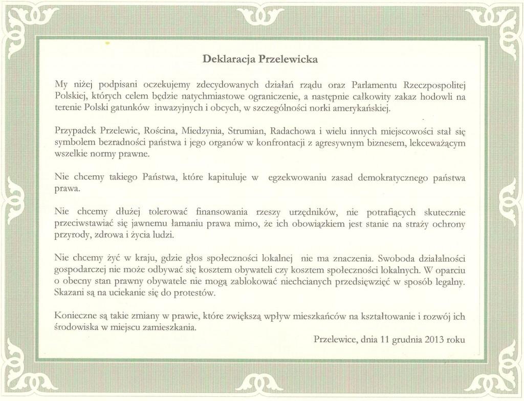 Deklaracja Przelewicka